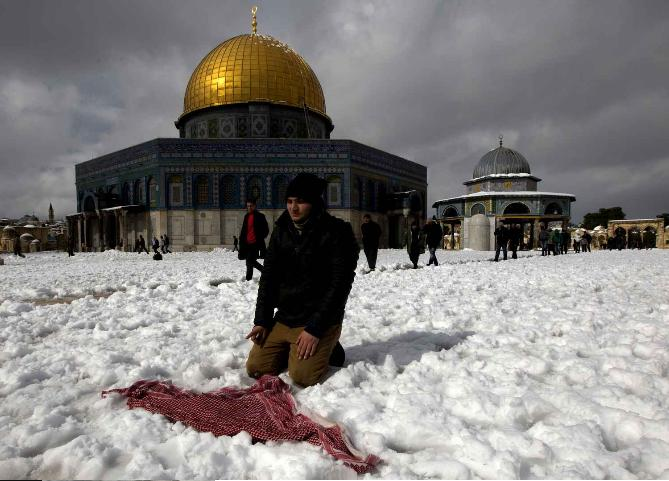 al Qods sous la neige 13 decembre 2013