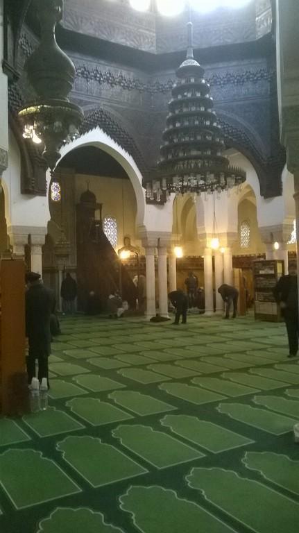 salle de prière grande mosquée de Paris