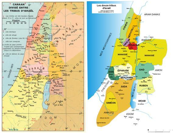 Canaan divise tribu isael 1