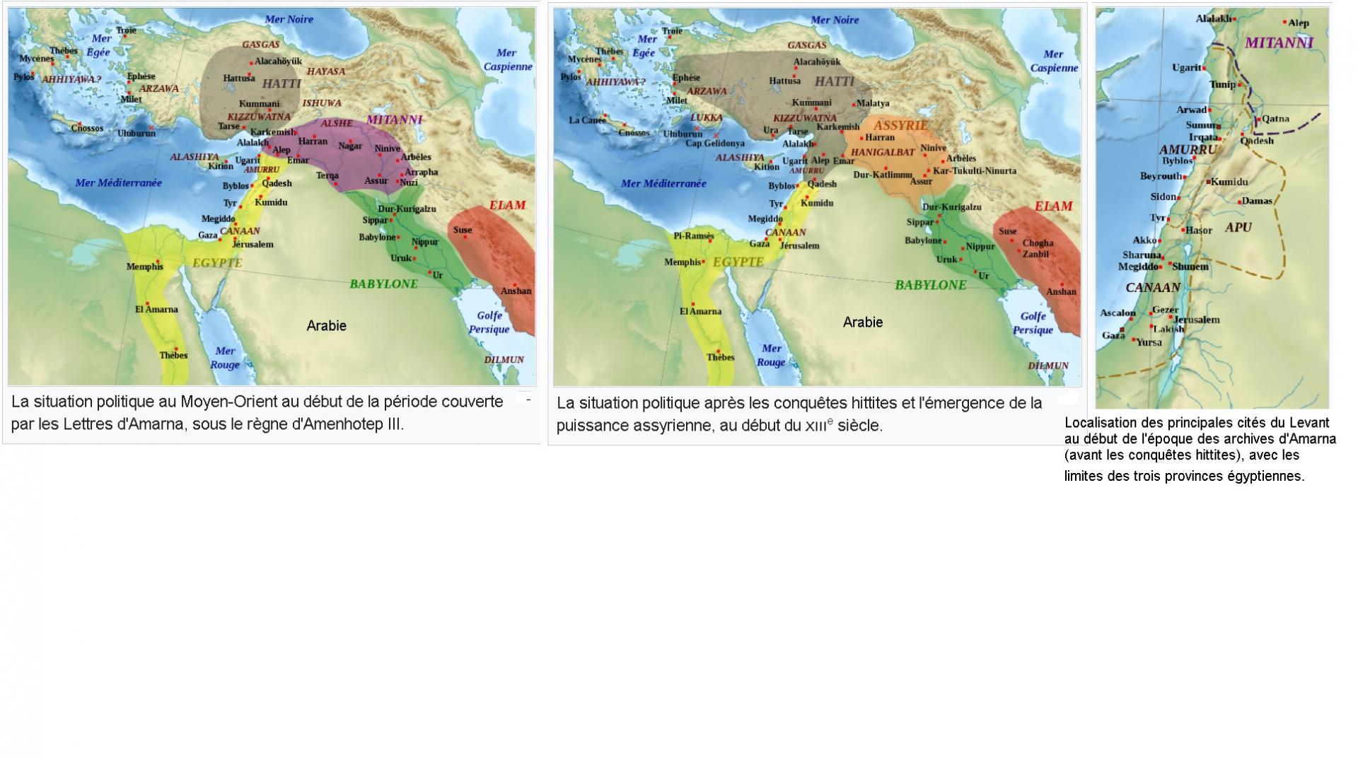 Canana aux temps de la 18e dynastie les lettes d armana