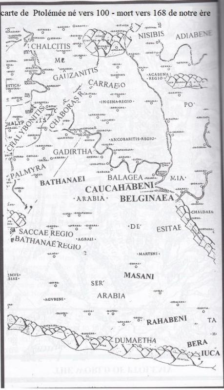 Carte de ptoleme arabie
