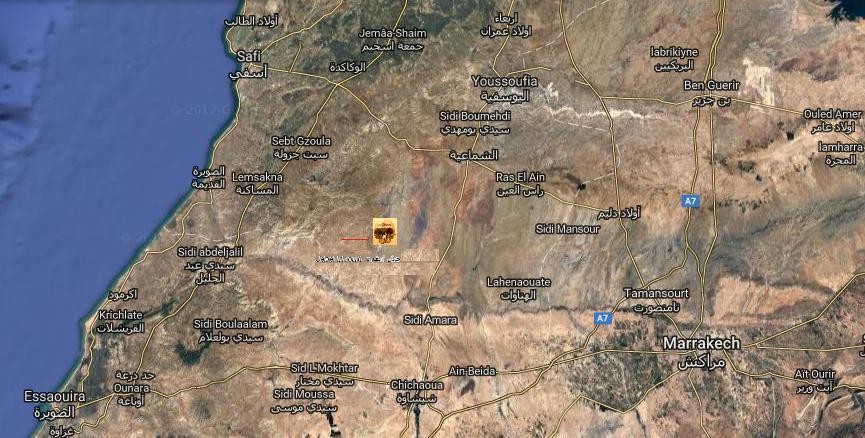 Carte maroc archeologie