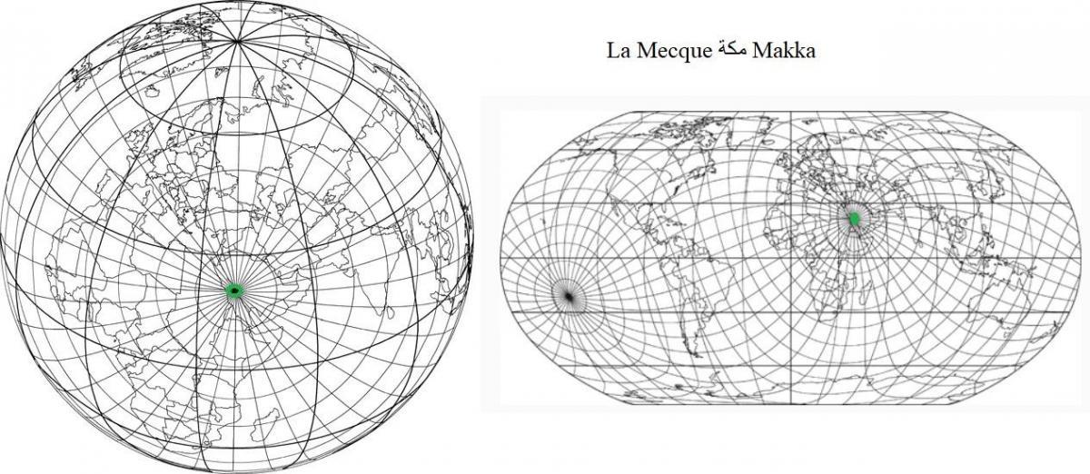 Cartographie la mecque
