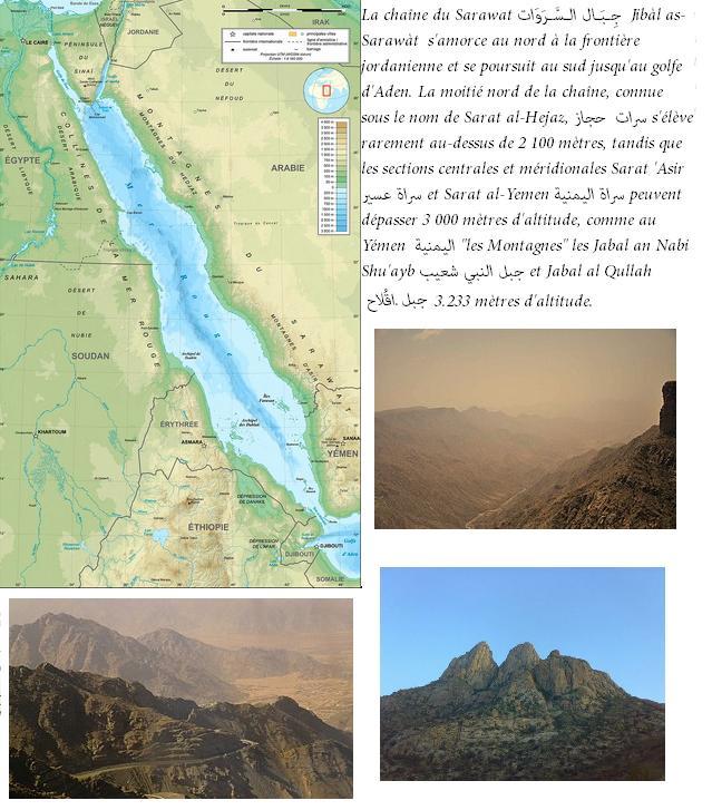 Chaines montagnes du sarawat arabie