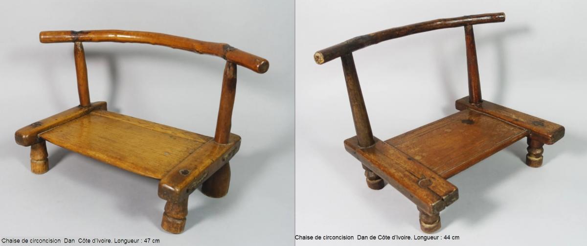 Chaises de circoncision dan de cote d ivoire