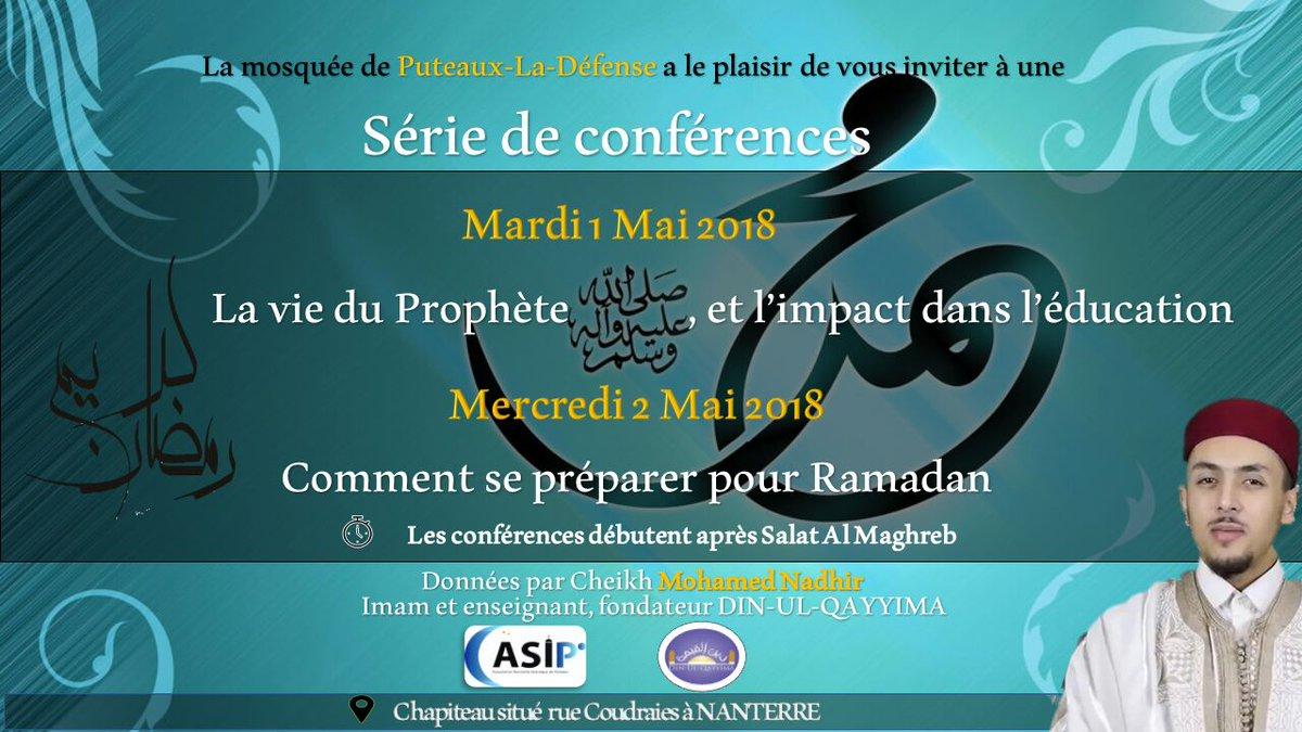 Conference mosquee de puteaux