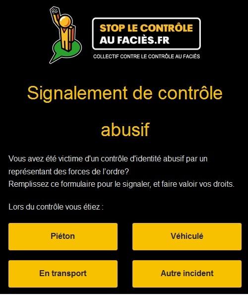 Controle abusif au facies