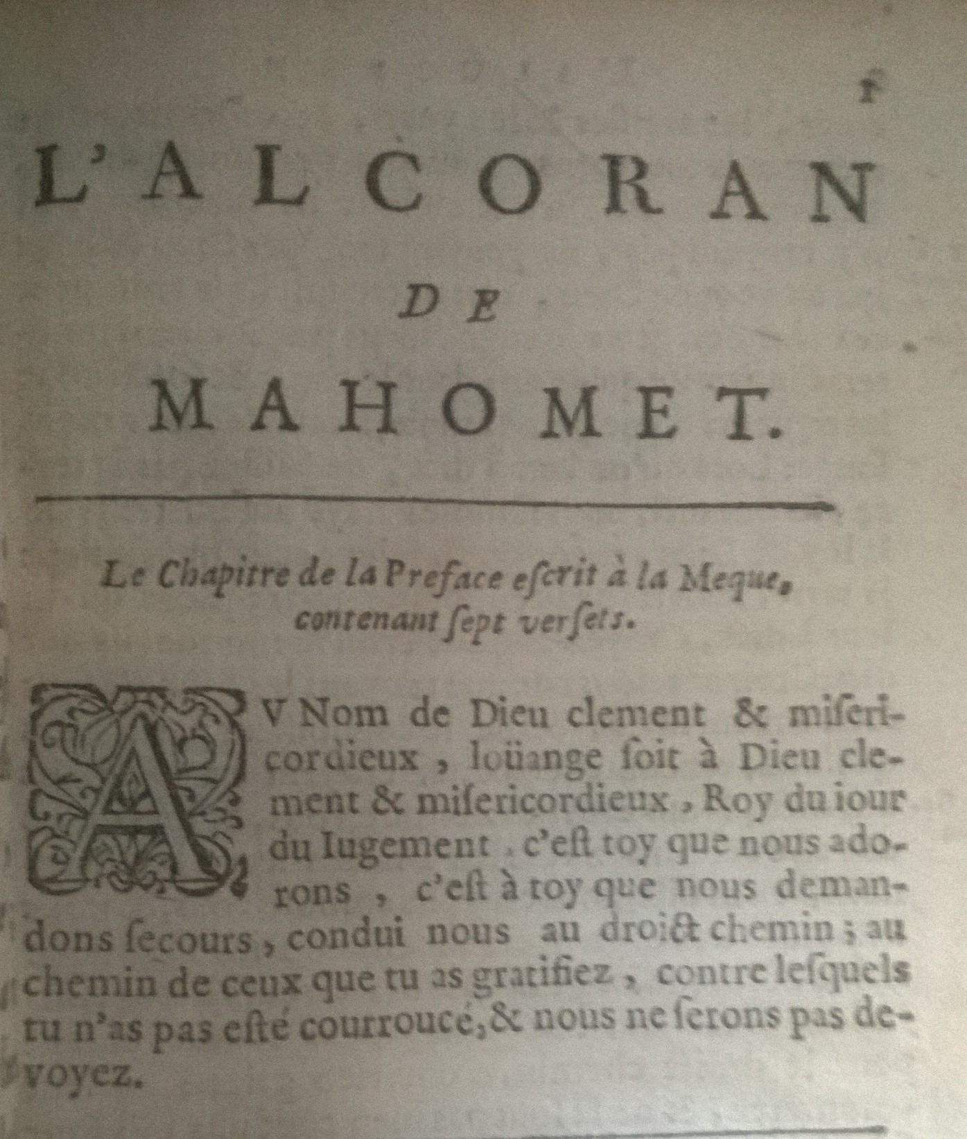 Coran 1649 fatiha