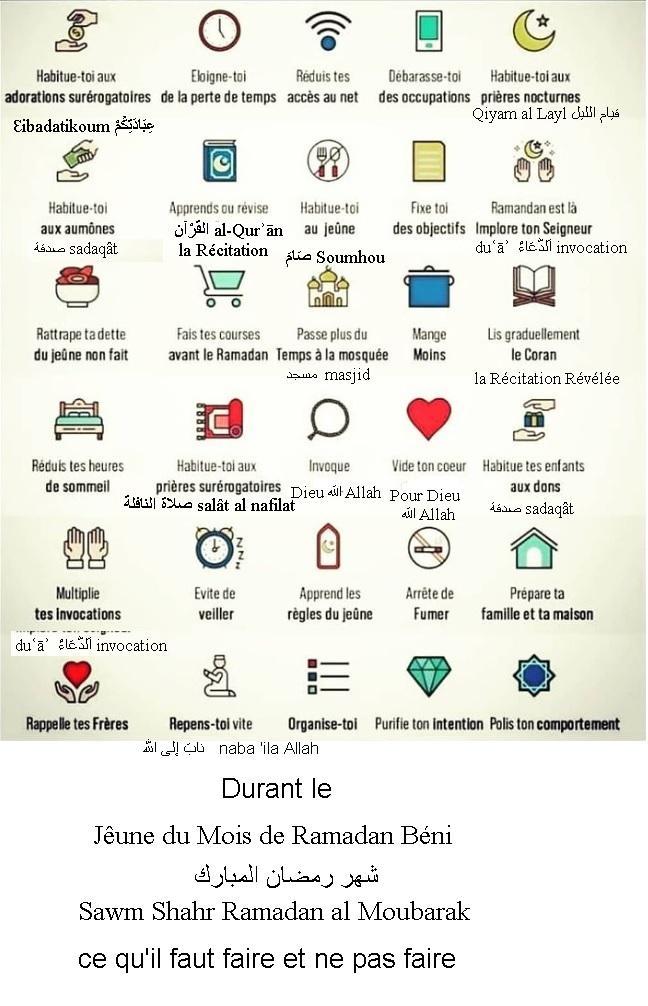 Durant le jeune du mois de ramadan ce qu il faut faire et ne pas faire