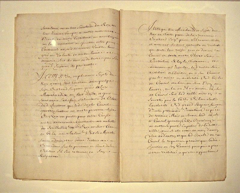 Ebauche du traite de 1536