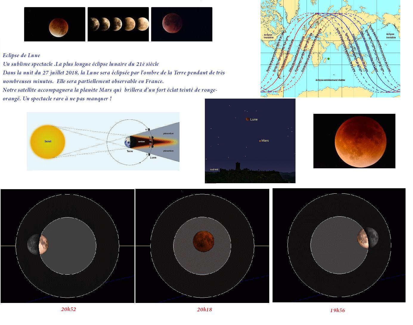 Eclipse lunaire 28 juillet 2018
