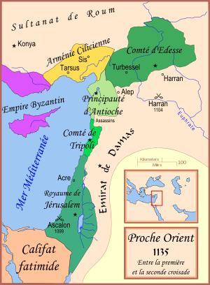 Etat latin d orient en 1135