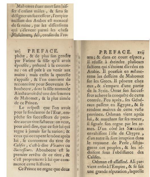 Histoire des arabes marigny 1750