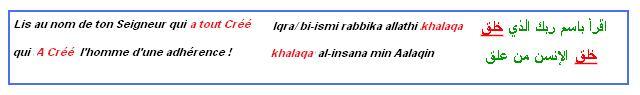 Ikra bismi rabika lis au nom de ton seigneur