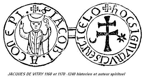 Jacques de vitry 1160 et 1170 1240 historien et auteur spirituel