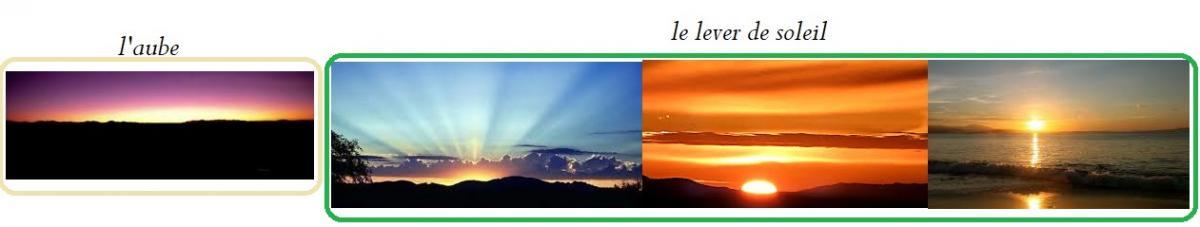 L aube et le lever de soleil