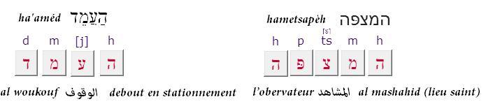 L observateur texte en hebreux