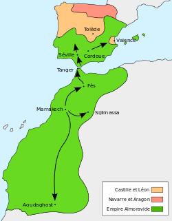 La peninsule iberique une partie de l empire des almoravides