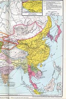 Le territoire de la dynastie ming vers 1415