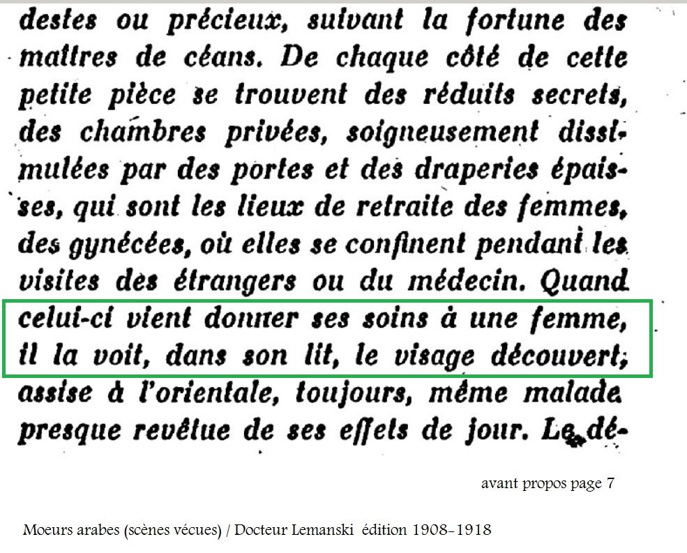 Moeurs arabes scenes vecues docteur lemanski 1908 1918