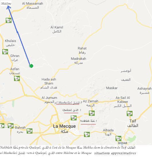Nakhlah pres de qudayd a l est de la mecque makka dans la direction de taif