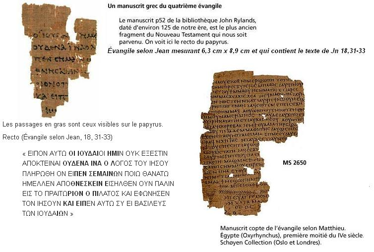 Papyrus evangile