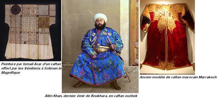 Peinture par ismail acar d un caftan offert par les venitiens a soliman le magnifique