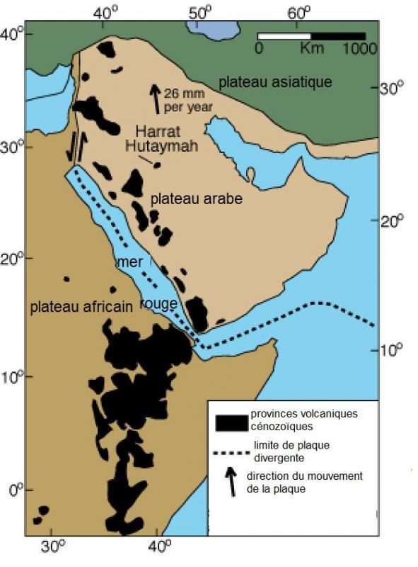 Plateau sismique arabe carte