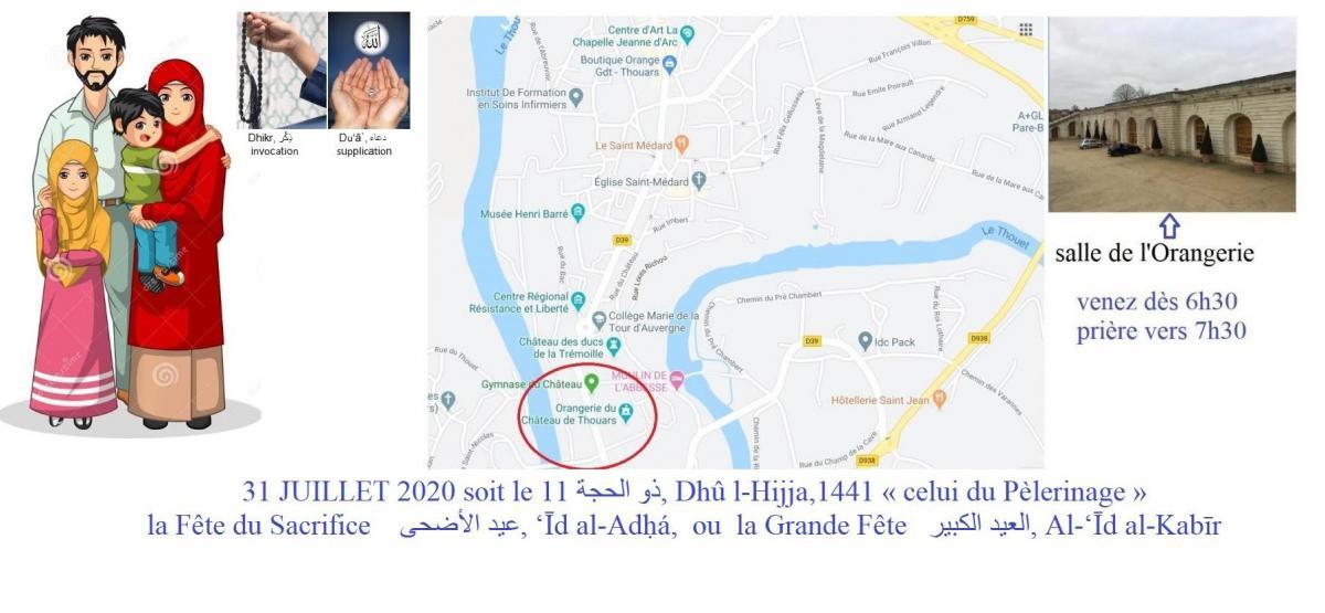 Priere de l aid 31 juillet 2020 thouars a la salle de l orangerie chateau de thouars 79