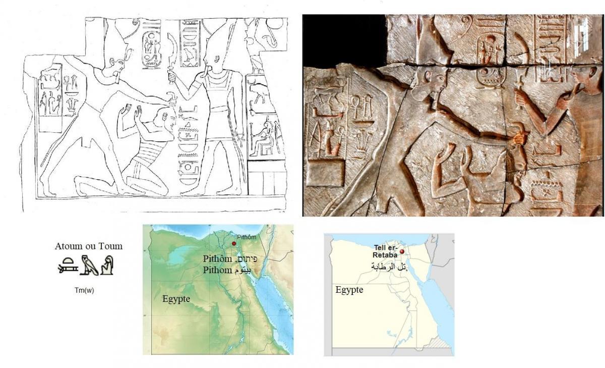 Ramses ii tue un asiatique devant le dieu atum 2