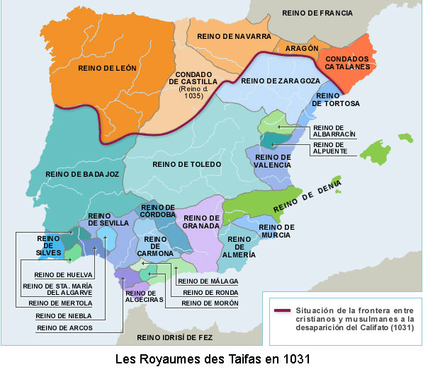 Royaumes des taifas 1031 1086 fin de la domination arabe