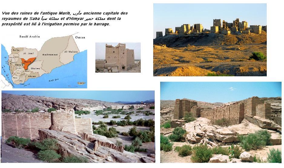 Ruines de marib capitale du royaume de saba