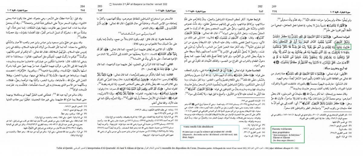 Tafsir al qurtubi l interpretation d al qourtoubi al jami li ahkam al qur an l ensemble des dispositions du coran deuxieme partie al baqarah du verset 40 au verset 164