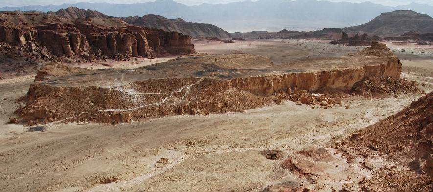 Vallee de timna camp minier